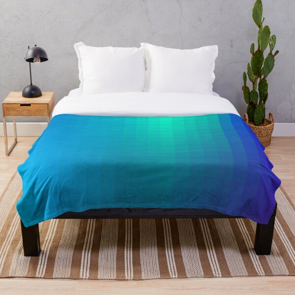 Blue Seagreen Ombre Throw Blanket