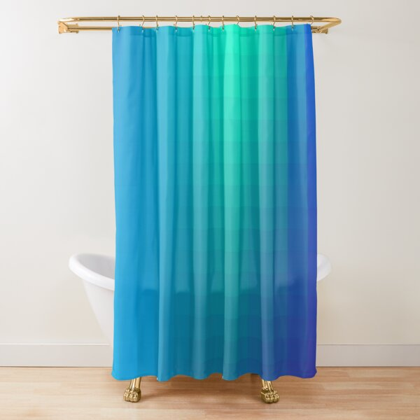 Blue Seagreen Ombre Shower Curtain