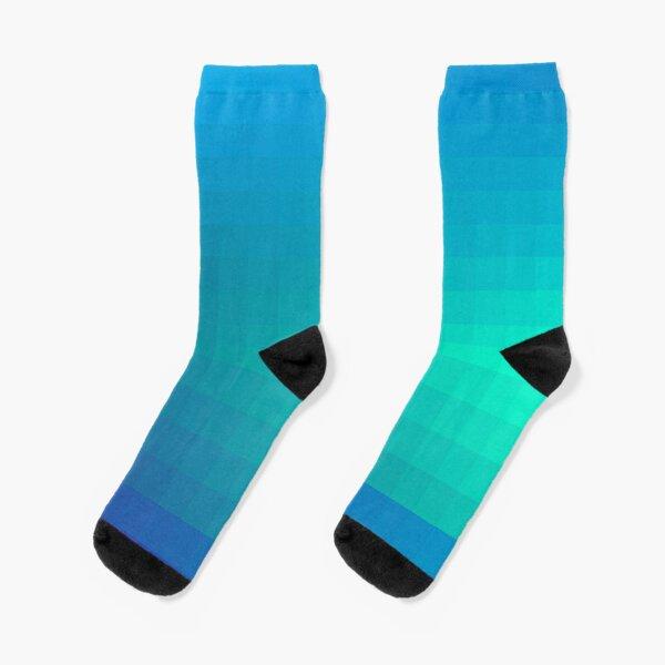 Blue Seagreen Ombre Socks