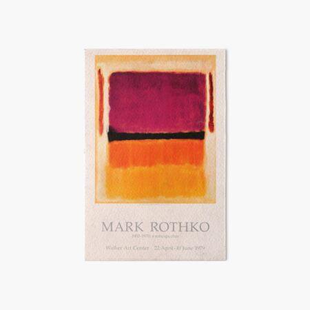 Cartel de la exposición de Mark Rothko 1979 Lámina rígida