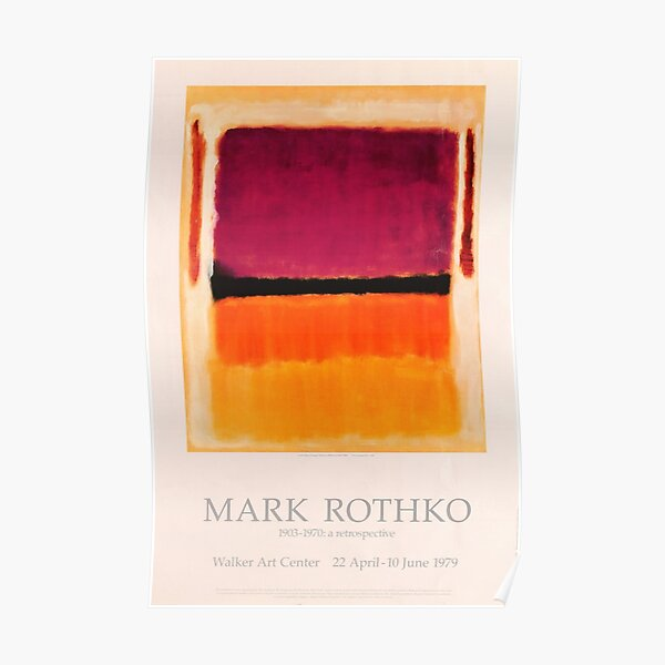 Mark Rothko Exhibition poster 1979 Poster