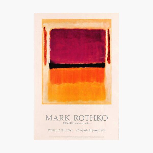 Mark Rothko Exhibition poster 1979 Photographic Print