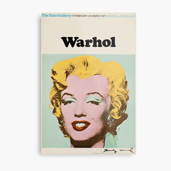 Andy Warhol Exhibition poster 1971 Metal Print