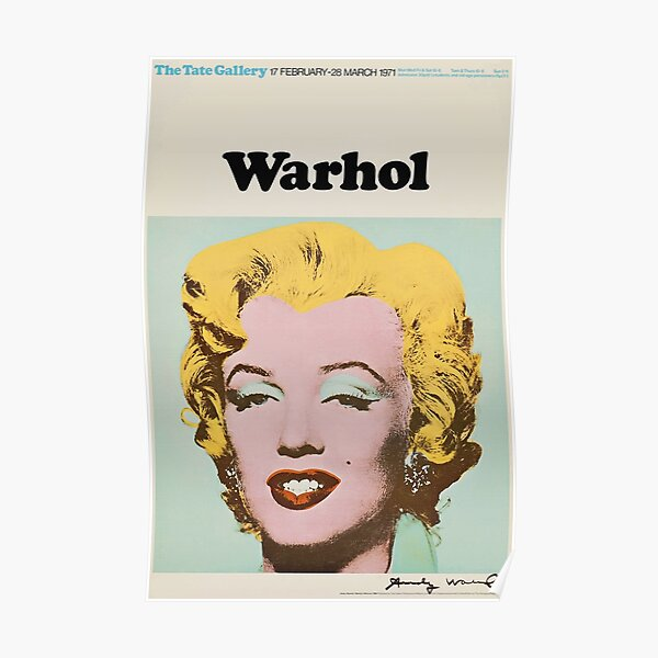 Andy Warhol Exhibition poster 1971 Poster