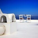 Have a seat at Firostefani - Santorini island by Hercules Milas
