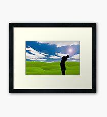 golf fairway Framed Print