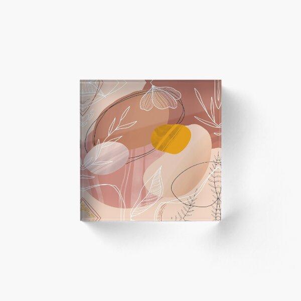 Abstract Peach Acrylblock