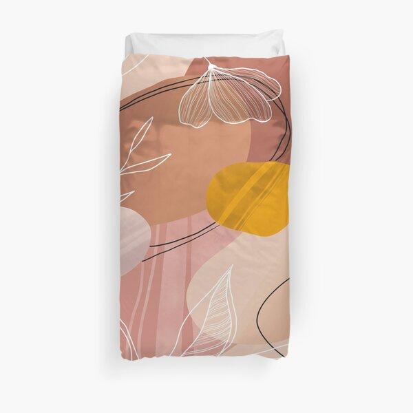 Abstract Peach Bettbezug