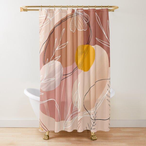 Abstract Peach Duschvorhang
