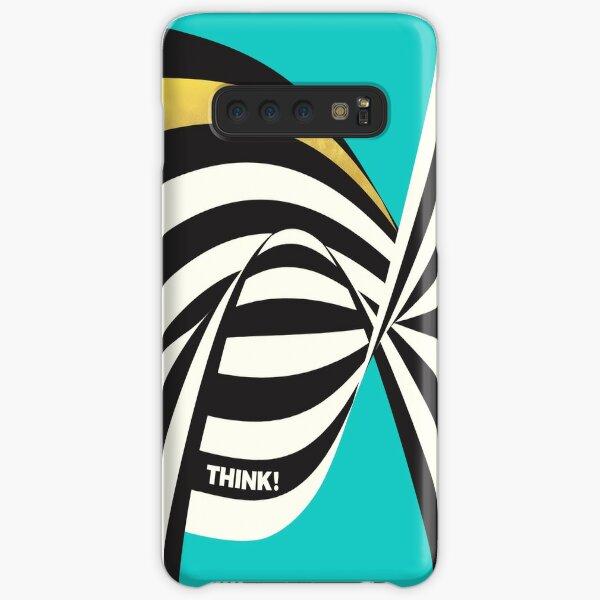 THINK! – Wavy Stripes on Luxury Blue Samsung Galaxy Snap Case