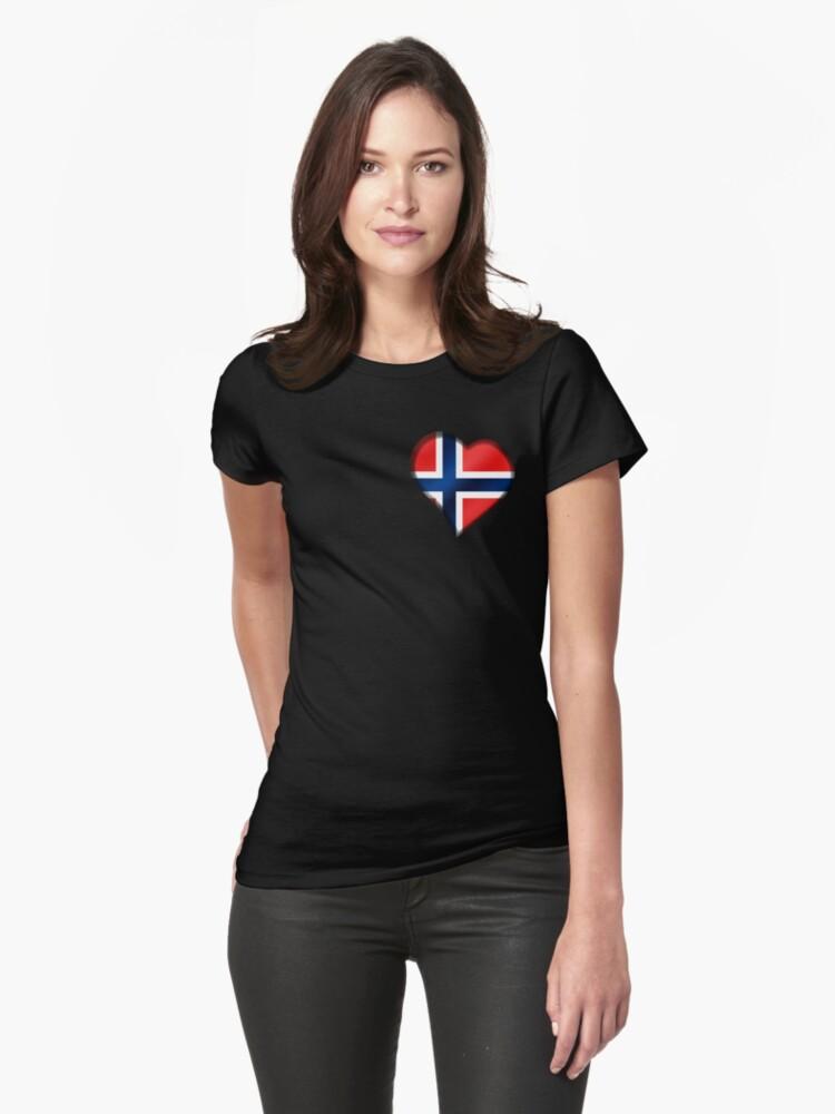 Norwegian Flag - Norway - Heart by graphix