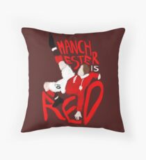Manchester is Red Throw Pillow