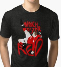 Manchester is Red Tri-blend T-Shirt