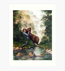 Welfare Bear Art Print