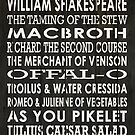 Food for Thought With Apologies to Shakespeare by Loredana Crupi