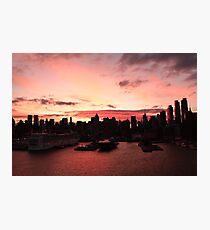 New York City skyline at sunrise photography Photographic Print