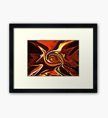 Autumnal Hearth Abstract ... Framed Print