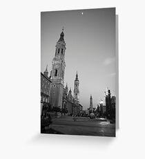 Plaza del Pilar 2 Greeting Card