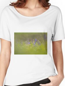 Selective focus on a cluster of Blue lupin (Lupinus pilosus) Women's Relaxed Fit T-Shirt