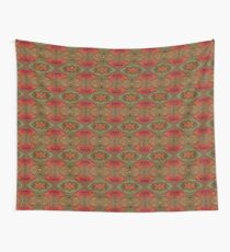 Whimsical pink, orange and green retro pattern Wall Tapestry