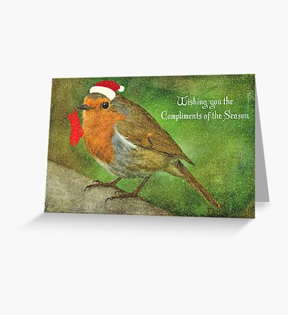 Merry Christmas Robin Redbreast  Greeting Card