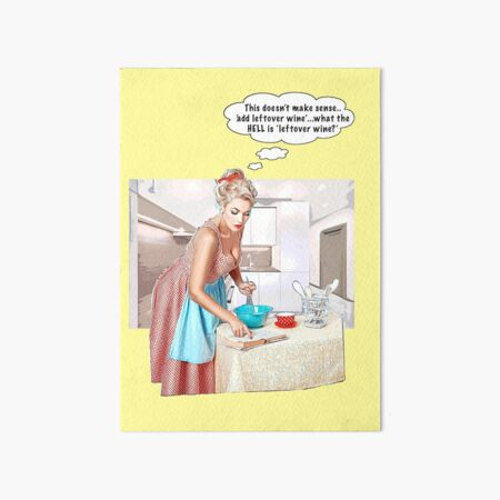 'What is leftover wine?' Art Board Print