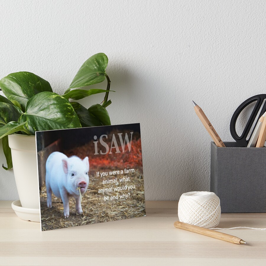 If You Were A Farm Animal Art Board Print