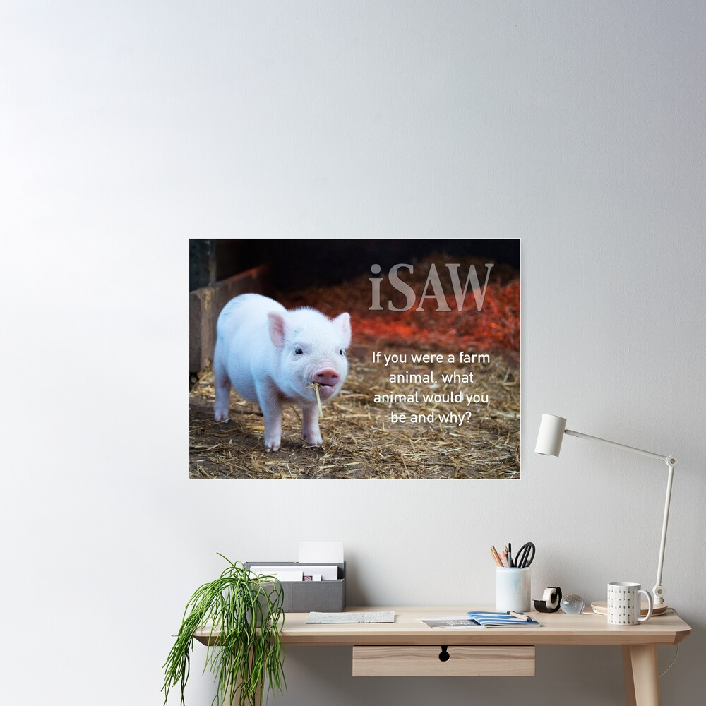If You Were A Farm Animal Poster