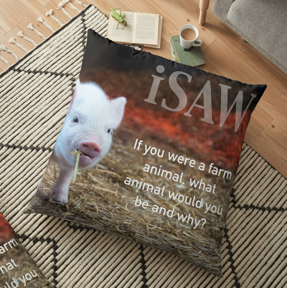 If You Were A Farm Animal Floor Pillow