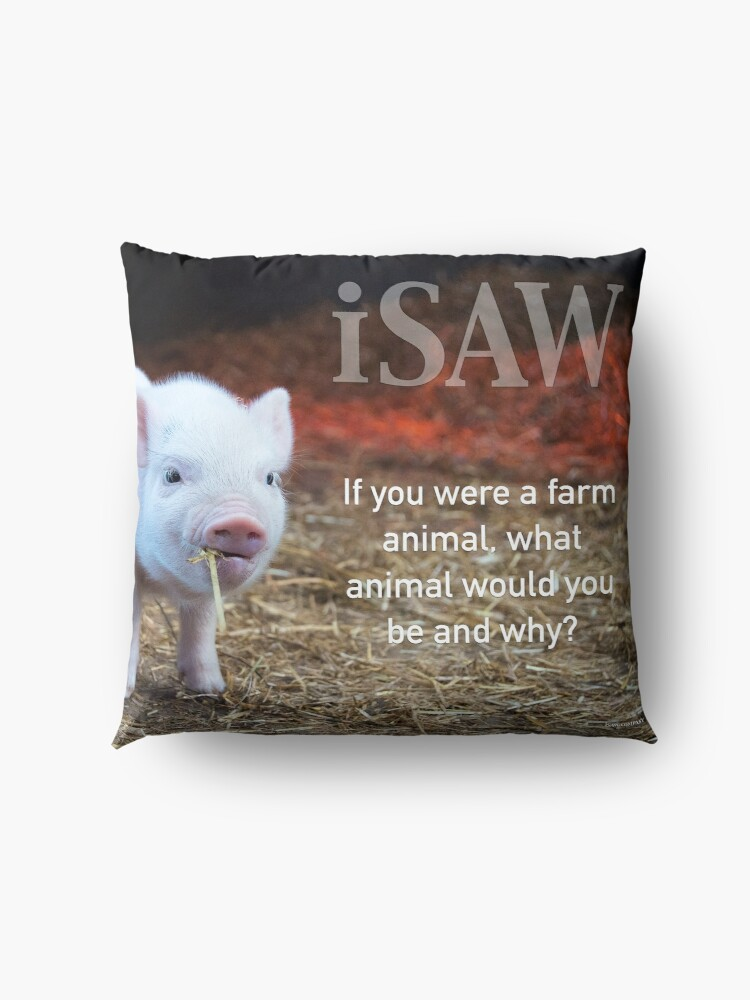 Alternate view of If You Were A Farm Animal Floor Pillow