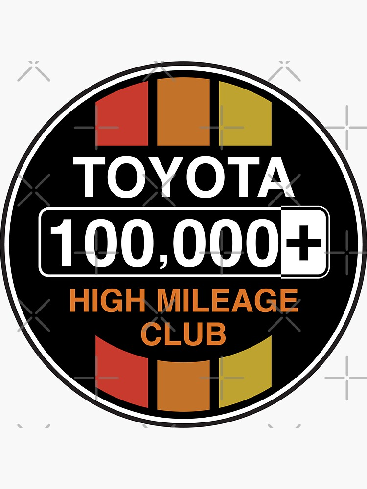 Toyota High Mileage Club - 100,000+ Miles (C Version) by brainthought