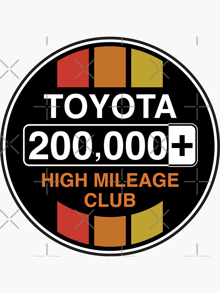 Toyota High Mileage Club - 200,000+ Miles (C Version) by brainthought