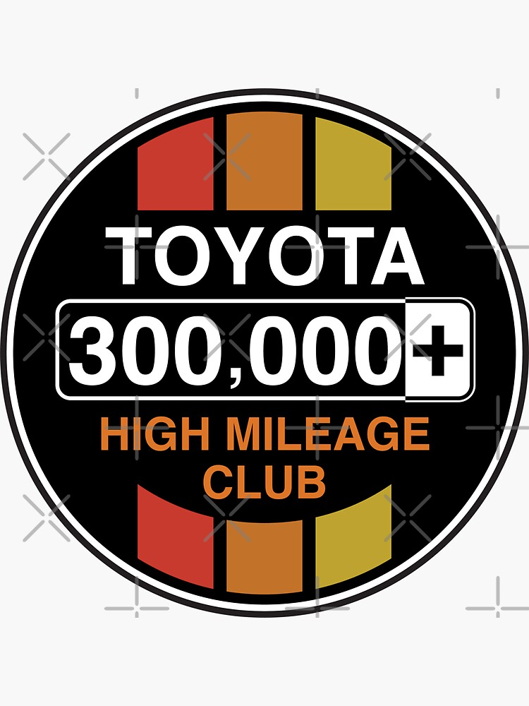 Toyota High Mileage Club - 300,000+ Miles (C Version) by brainthought