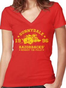 Sunnydale Herbert Women's Fitted V-Neck T-Shirt