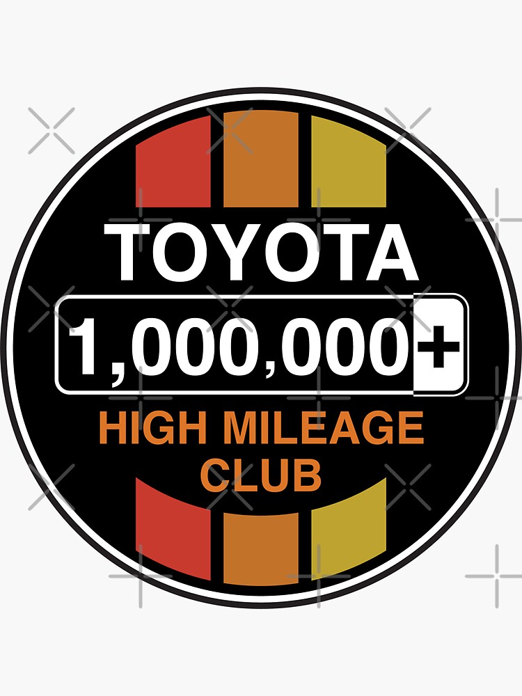 Toyota High Mileage Club - 1,000,000+ Miles (C Version) by brainthought