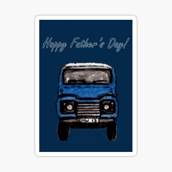 Going for a Ride - Father's Day Card Sticker
