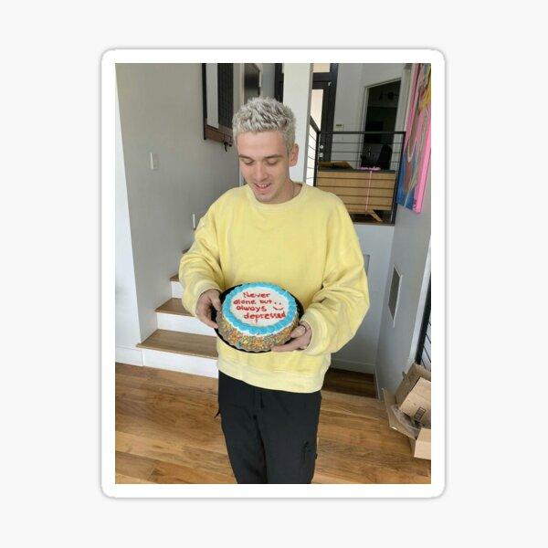 lauv with cake Sticker