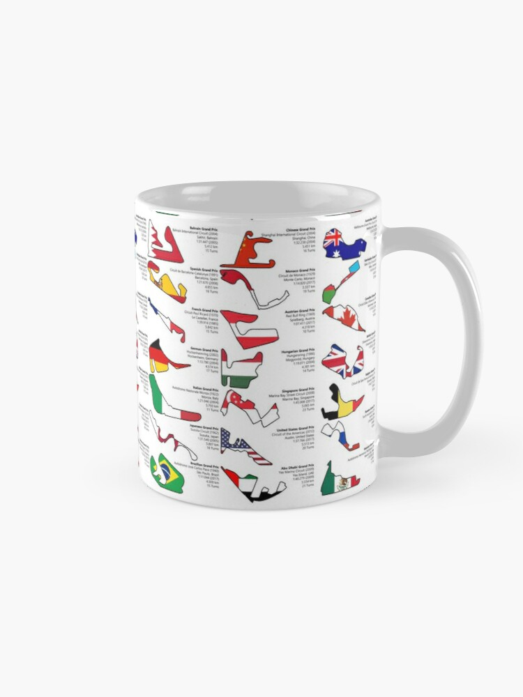 Alternate view of Formula 1 Circuits Grand Prix 2018 Mug