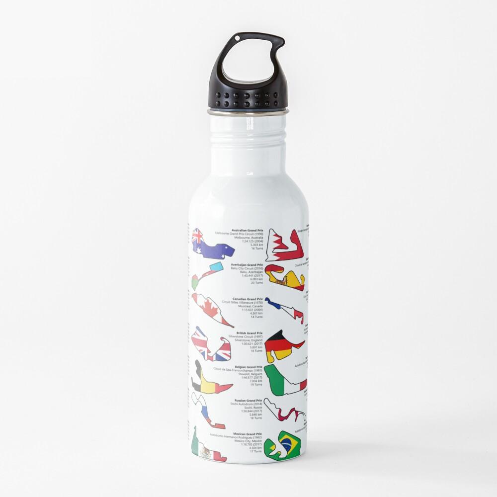 Formula 1 Circuits Grand Prix 2018 Water Bottle