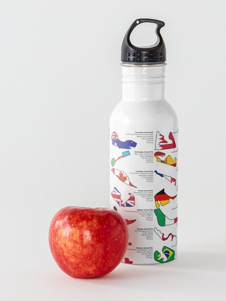 Alternate view of Formula 1 Circuits Grand Prix 2018 Water Bottle