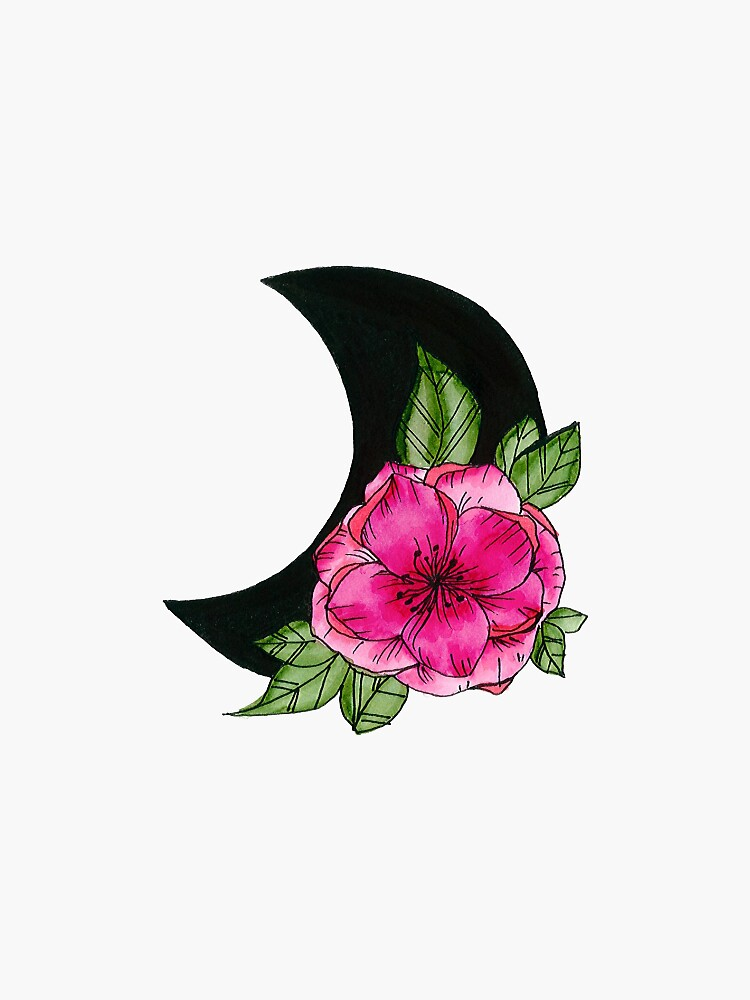 Moon Flower  by artbylenashop