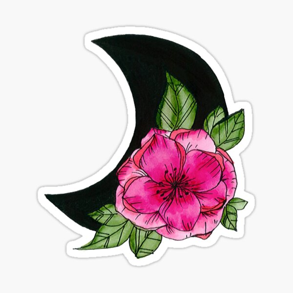 Moon Flower  Sticker