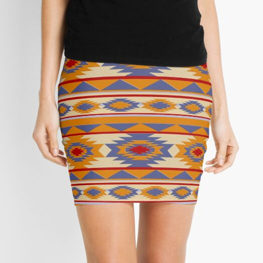 Southwestern navajo tribal pattern Mini Skirt