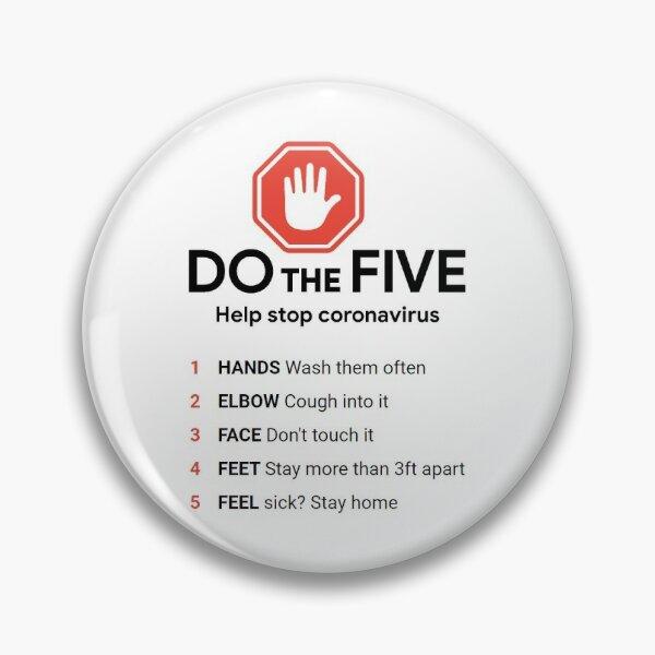 DO the Five. Help Stop #Coronavirus Pin