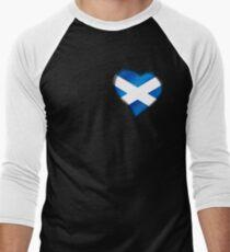 Scottish Flag - Scotland - Heart Men's Baseball ¾ T-Shirt