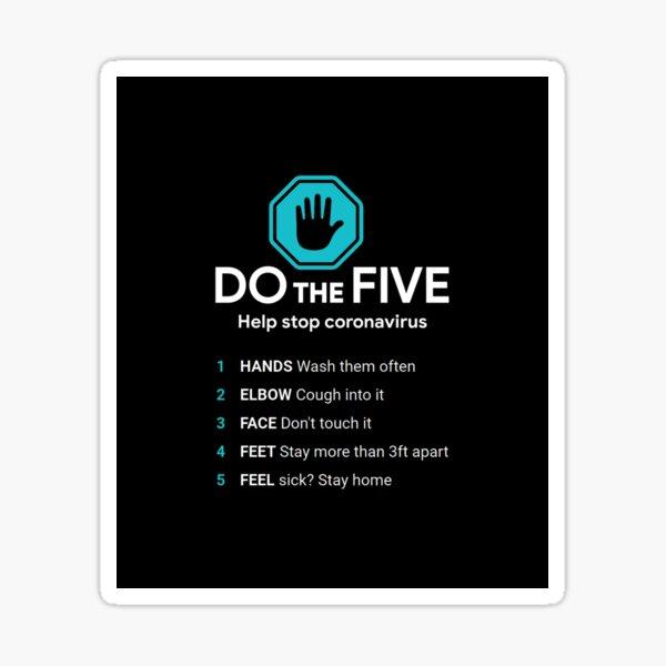 DO the Five. Help Stop #Coronavirus Sticker