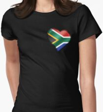 South African Flag - South Africa - Heart T-Shirt