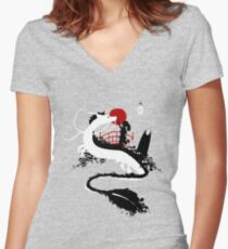 Magical Meeting Women's Fitted V-Neck T-Shirt