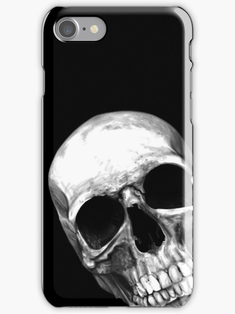 skull on black by aaronnaps