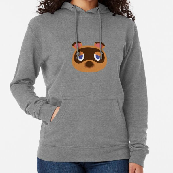 Animal Crossing : New Horizons, Tom Nook face white texture Lightweight Hoodie
